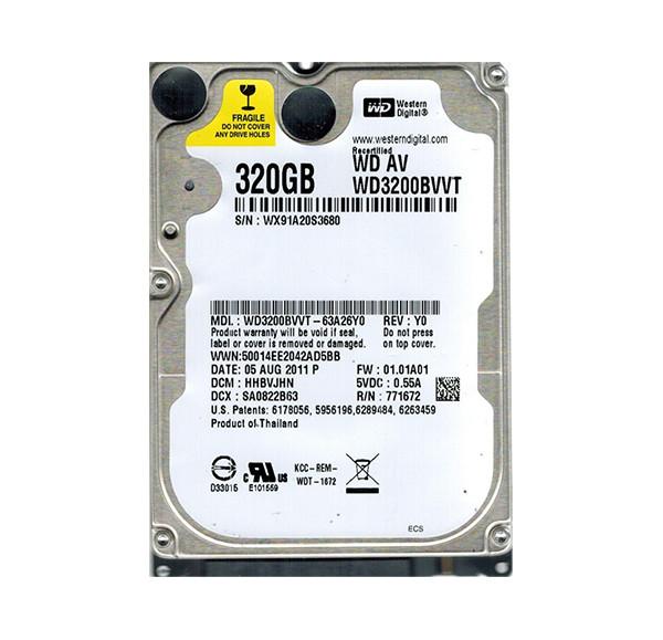 Жесткий диск (HDD) Western Digital 320GB (WD3200BVVT) 2.5/5400RPM