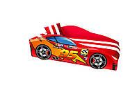 Кровать машина с матрасом Маквин красный, фото 1