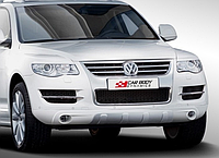 Накладка переднего бампера на Volkswagen Touareg 2002-2010, ABS-пластик