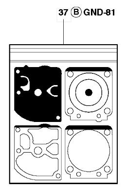 Набор мембран карбюратора для бензопил Husqvarna 445, 445e, 450 и 450e