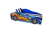 Кровать машина с матрасом Маквин синий, фото 1