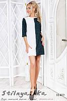 Короткое ангоровое платье бутылка с белым