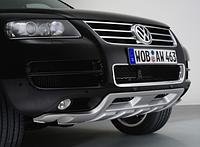 Накладка переднего бампера Кинг-Конг на Volkswagen Touareg 2003-2006, стеклопластик