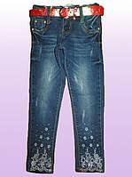 Джинсовые брюки для девочек оптом 98-128 рр. арт. DY-1583, фото 1