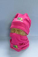 Комплект зимний Kolon Sport 7845 (шапка и шарф) розовый  код 108 H