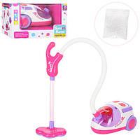 Игровой набор для девочек Пылесос A5936- 18см,звук, свет., шланг , пенопласт.шарики, на батар., в коробке