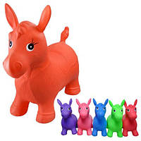 Прыгун лошадь цветная(однотонная) 6 цветов (ОПТОМ) MS 0001