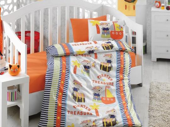 Дитяче постільна білизна Cotton Box Hazine orange