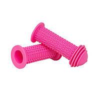 Грипсы Green Cycle GGR71 96mm детские, эргономичные, розовые