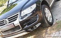 Реснички на фары на Volkswagen Touareg 2007-2010, рестайл, ABS-пластик