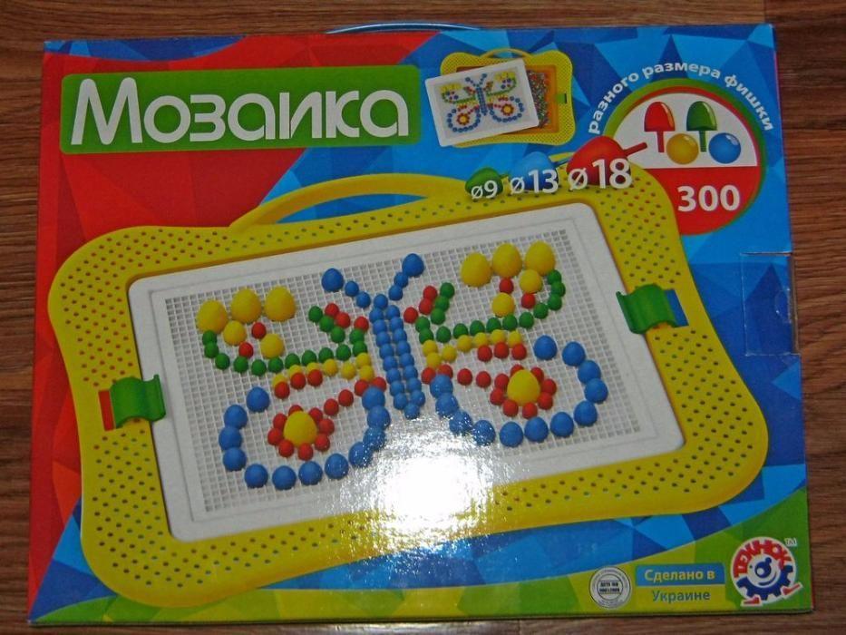 Мозаика технок 2100 состоит из 300 деталей разных по размеру 3 вида