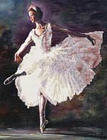 """Схема для вышивки бисером/крестом на габардине """"Балерина"""""""