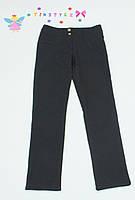 Черные  утепленные  брюки на флисе на девочку 158