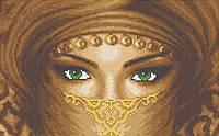 """Схема для вышивки """"Восточные глаза"""""""