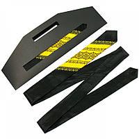 Атласный вышитый галстук для мужчин черно-желтого цвета №654, фото 1