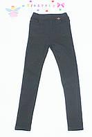 Черные утепленные брюки на флисе на девочку