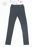 Черные  утепленные  брюки на флисе на девочку 176
