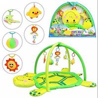 Игровой развивающий коврик для детей до года с погремушками 898-112 В 