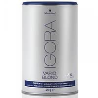 Беспылевой порошок - осветление до 7 уровней (голубой) Schwarzkopf Igora Vario Blond Plus 450 г