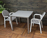 Стіл барний , для ресторану ,кав'ярні CUBE, 80х80х75 см mix color