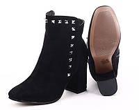 Замшевые демисезонные ботинки на каблуке размеры 36-41