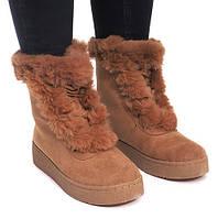 Ботинки зимние с Польши на шнуровке и с мехом сверху