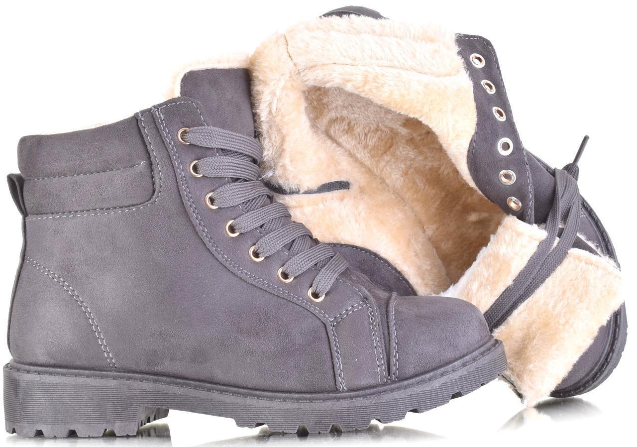 Зимние ботинки на шнуровке , фото 1