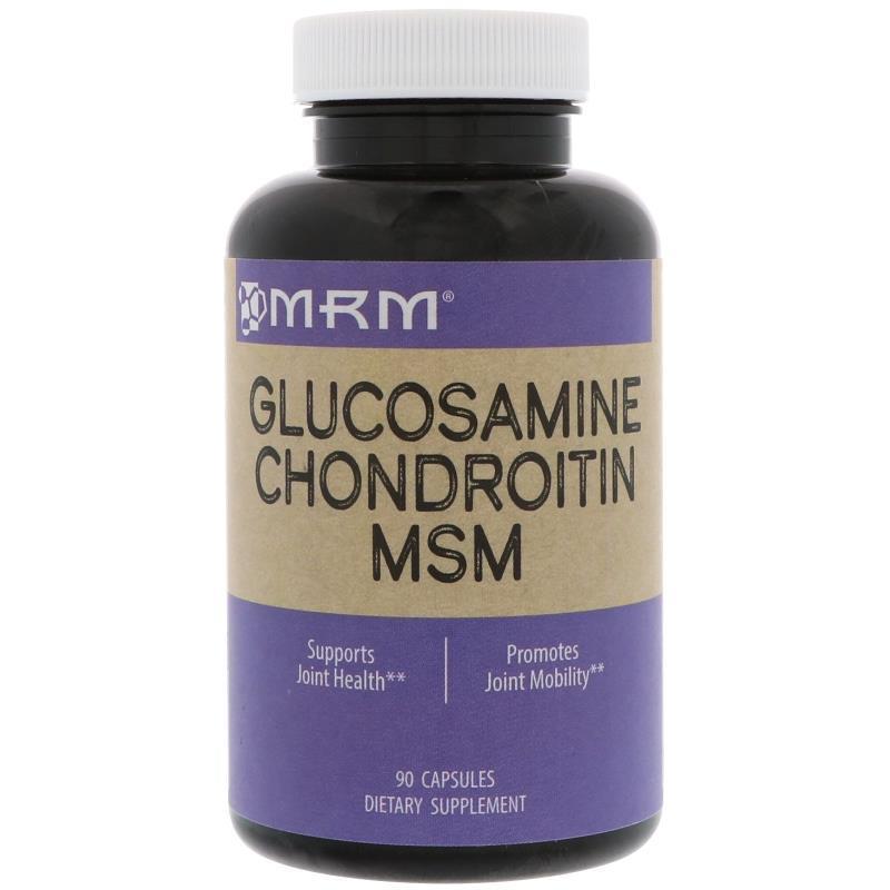 MRM, Глюкозамин Хондроитин МСМ, 90 капсул, фото 1
