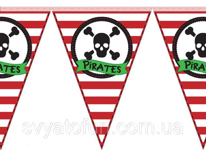 """Гирлянда треугольная """"Пираты череп"""""""