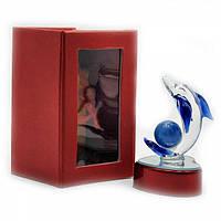 Хрустальная статуэтка Дельфин с подсветкой
