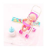 Кукла-пупс с коляской и бутылочкой 17-37
