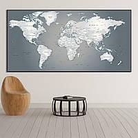 Карта мира в деталях (названия на английском)