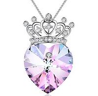 Подвеска ожерелье сердце с короной GEORGE SMITH