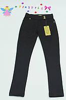 Стильные трикотажные  брюки для девочки  на рост  134-164 см