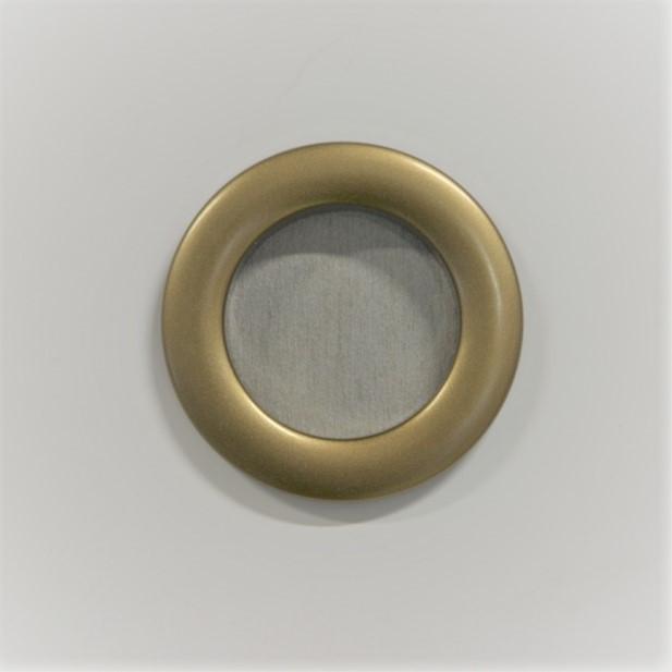 Люверс для штор пластик P35/51 золото антик