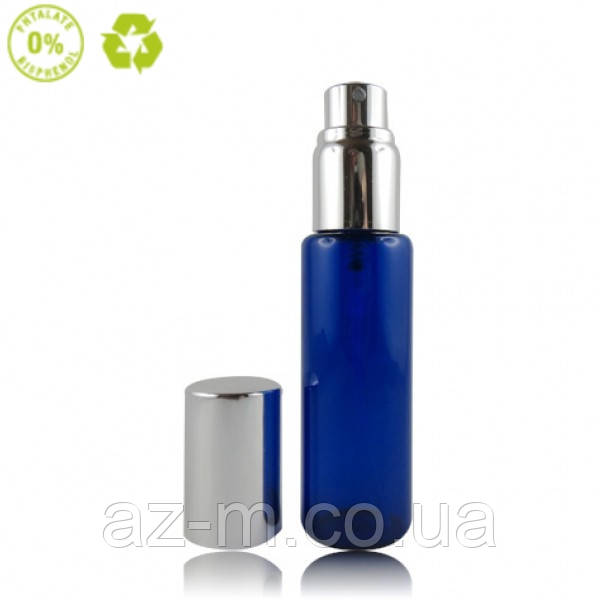 Флакон распылитель стеклянный (голубой) 30 мл