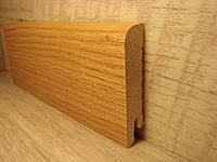 Плинтус деревянный напольный шпонированный Дуб 15*70*2400мм