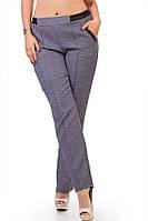 Стильные брюки Chantal с кожаными вставками на карманах и резинке-поясе  (102)297