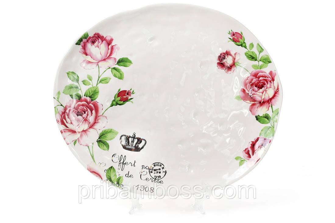 Блюдо керамическое Розы
