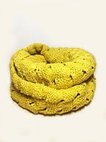 Женский шарф восьмёркой, хомут, снуд, вязаный, шерстяной, зимний