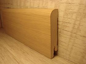 Плинтус деревянный напольный шпонированный Дуб белый промасленный 15*70*2400мм