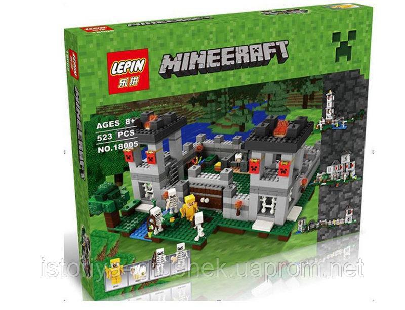 Конструктор Lepin 18005 Minecraft \ Майнкрафт (аналог Lego 21127) &quo