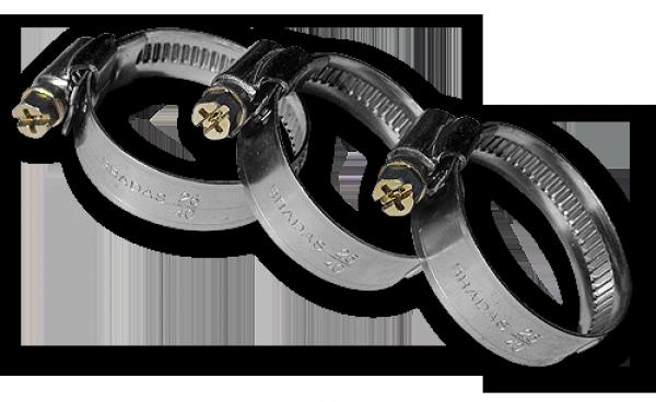 Хомут червячный нержавеющий, BRADAS, 40-60мм,  BSW2 40-60/12