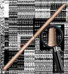 Черенок деревянный, лакированный IT (матричная  резьба). Длина: 120 см Диаметр: 25 мм, TVI24120