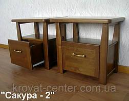 """Тумбочка с ящиком """"Сакура - 2"""". Массив - сосна, ольха, береза, дуб., фото 2"""