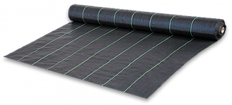 Агроткань против сорняков PP, черная UV, 90 гр/м? размер 0,6 х 100м, AT9406100