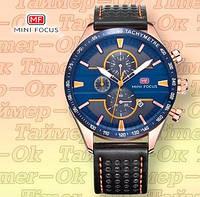 Мужские наручные часы Mini Focus Синие в золотом