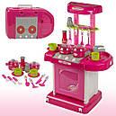 Детская кухня в пластиковом чемодане световые и звуковые эффекты (кипения,воды,жарки...), фото 3