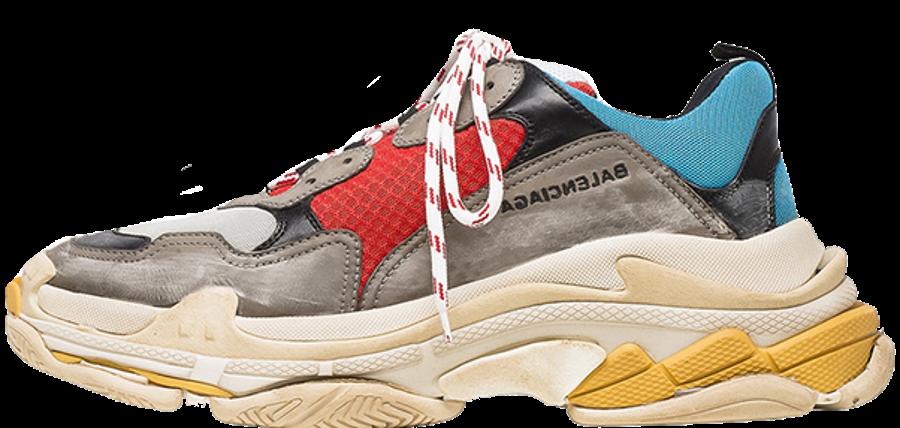 15521f34b651 Кроссовки женские Balenciaga Triple S Grey Red Blue баленсиага белые -  Магазин спортивной обуви