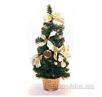 Настольная елка с игрушками Девилон 40 см 470365 кремовая